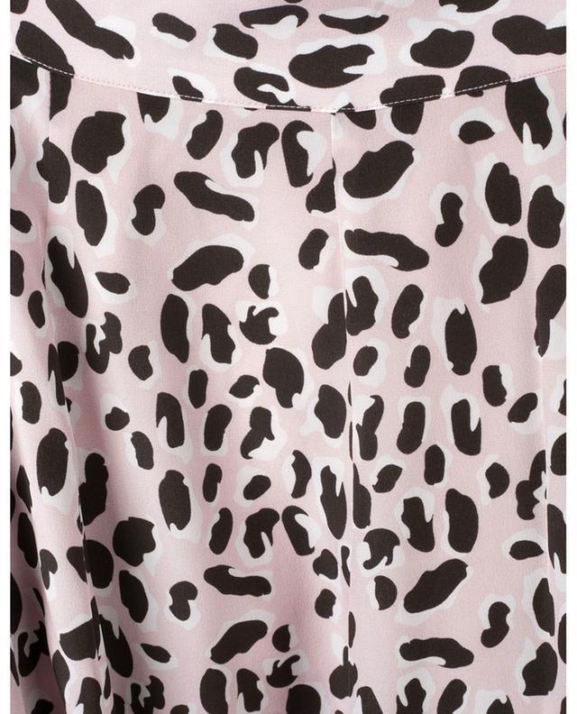 Jupe en soie à imprimé léopard SLY 010