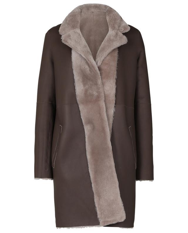 Manteau long en peau d'agneau SLY 010