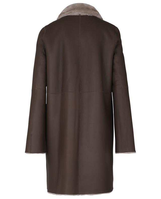Manteau long en peau d'agneau SLY 010