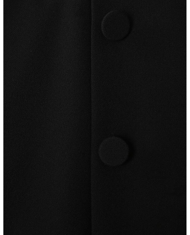 Jupe plissée en laine mélangée avec boutons SLY 010