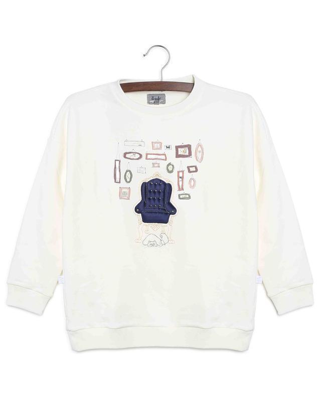 Sweat-shirt en coton mélangé imprimé IL GUFO