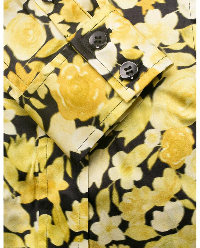 Chemise en soie stretch fleurie GANNI
