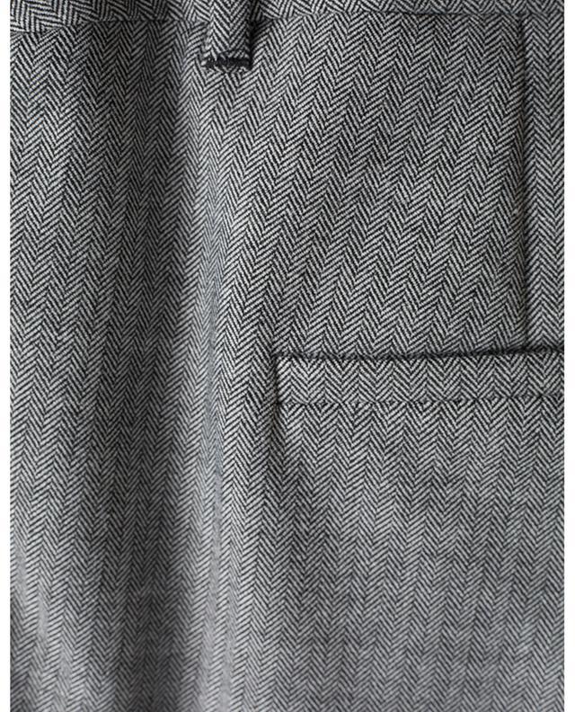 Verkürzte ausgestellte Hose mit Fischgrätenmuster Simpaty IBLUES