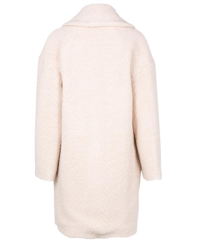 Manteau oversize à boutonnière double texture chevron Lilia IBLUES