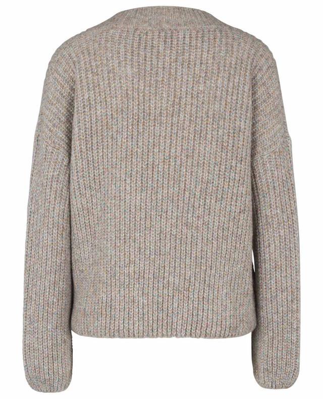 Lässiger, kurzer Pullover mit buntem Lurex Isolana IBLUES
