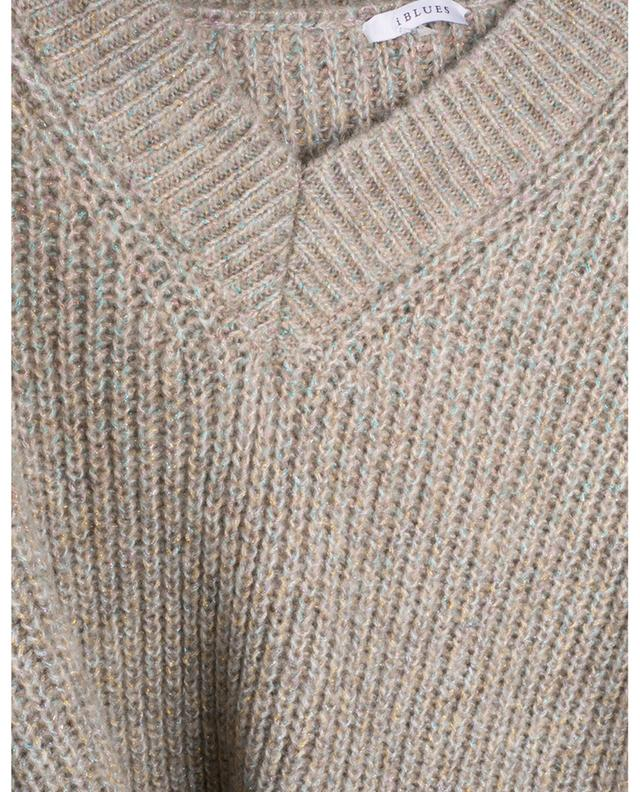 Isolana short and loose jumper with multicolour Lurex IBLUES
