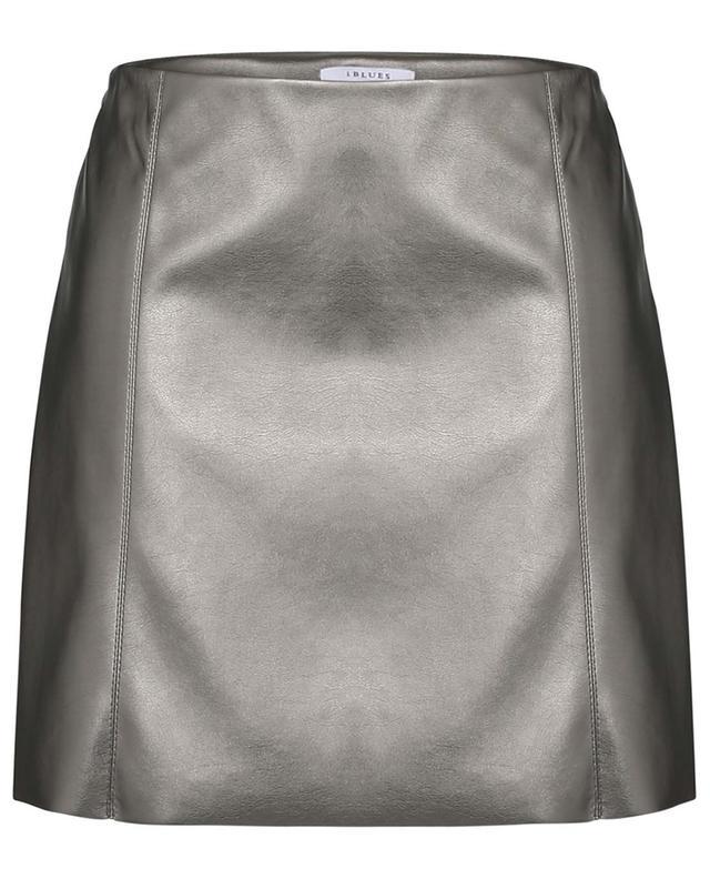 Ghirba metallic faux leather miniskirt IBLUES
