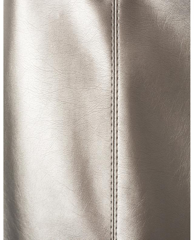 Minijupe en cuir synthétique métallisé Ghirba IBLUES