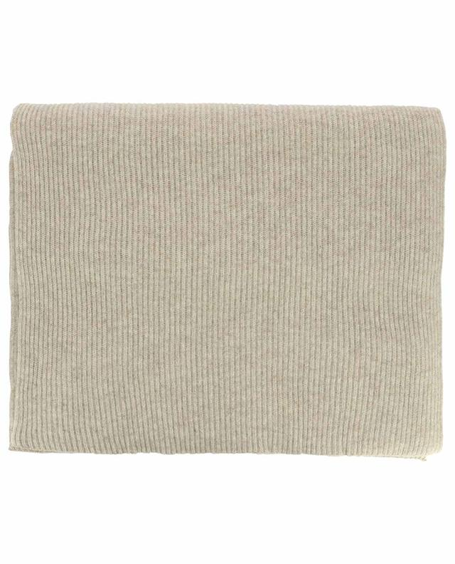 Recycled wool ribbed scarf GANNI