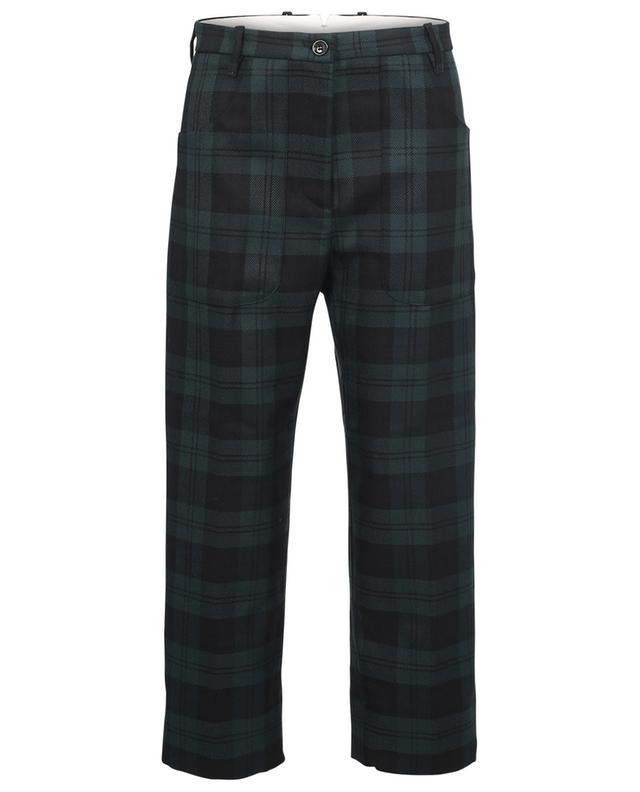 Pantalon large raccourci à carreaux Nina NINE IN THE MORNING