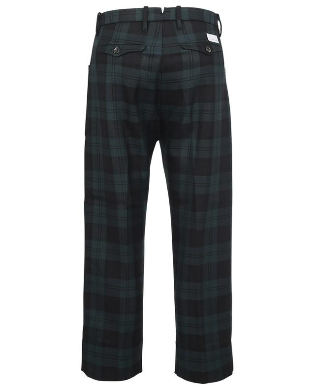 Nina cropped checked wide-leg trousers NINE IN THE MORNING