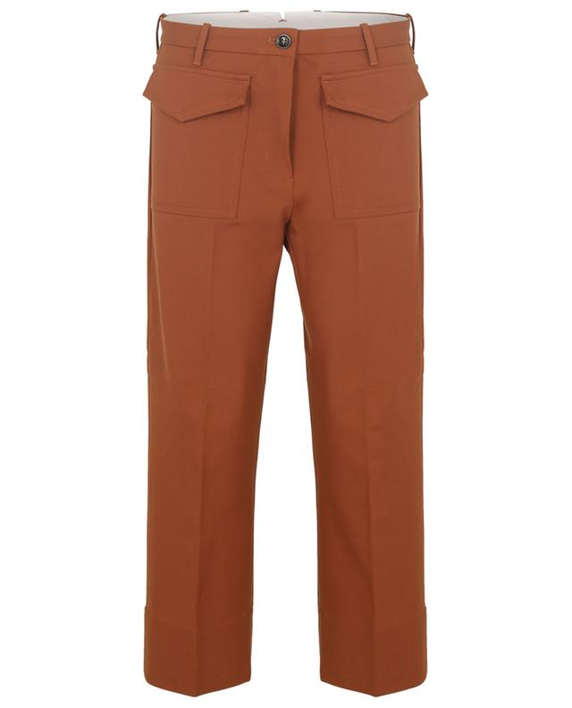 Lucy wool blend straight cropped trousers NINE IN THE MORNING