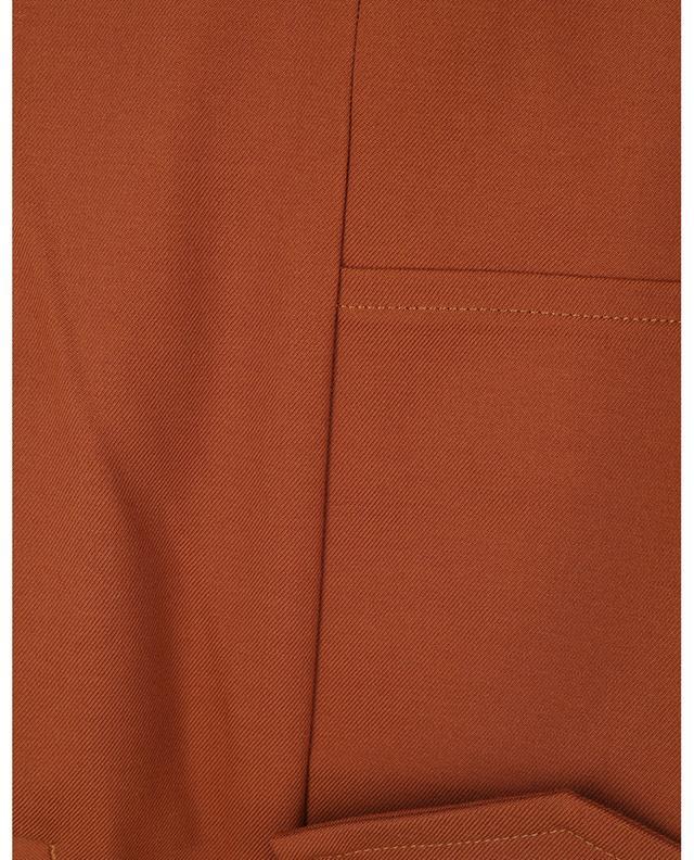 Pantalon droit raccourci en laine mélangée Lucy NINE IN THE MORNING