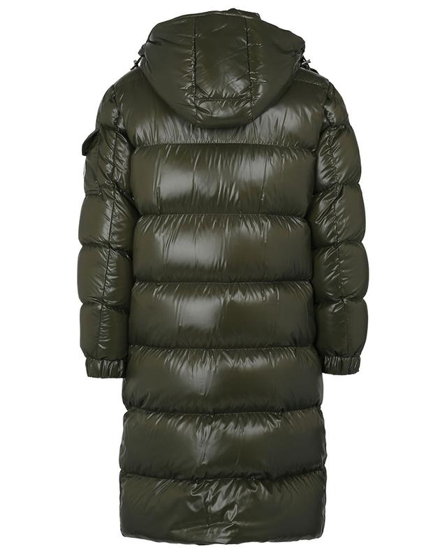 Hanoverian long lacquered nylon down jacket MONCLER