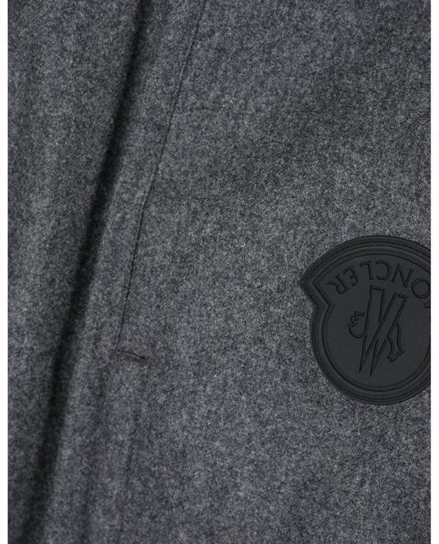 Pantalon de jogging en feutre de laine patch logo MONCLER