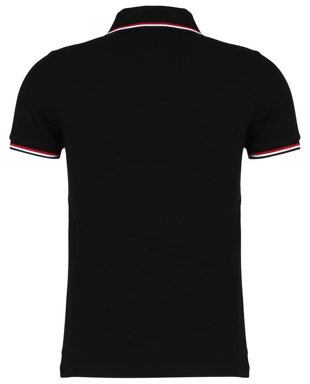 Polo slim bords bleu-blanc-rouge brodé logo MONCLER