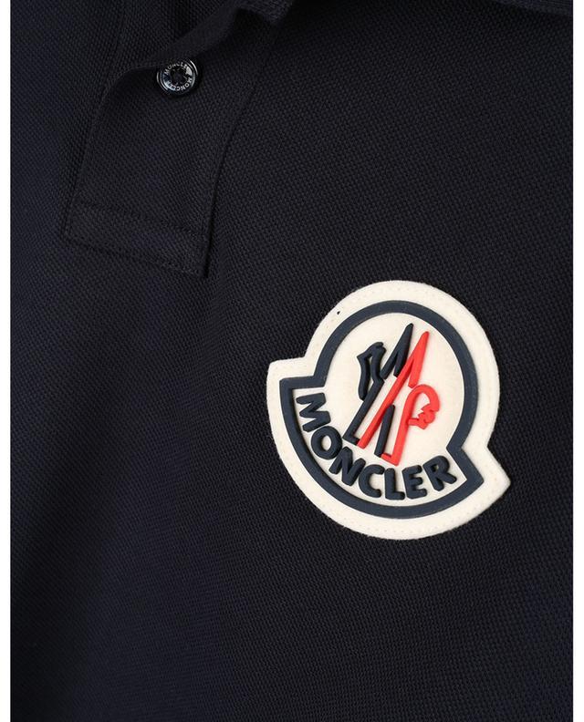 Polo slim en coton piqué brodé Macro Logo MONCLER