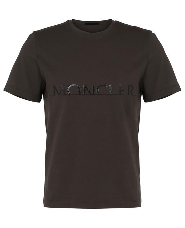 T-shirt en jersey imprimé logo brillant ton sur ton MONCLER