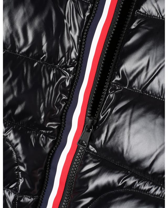 Cardigan à zip tricolore ajustable et empiècement doudoune MONCLER