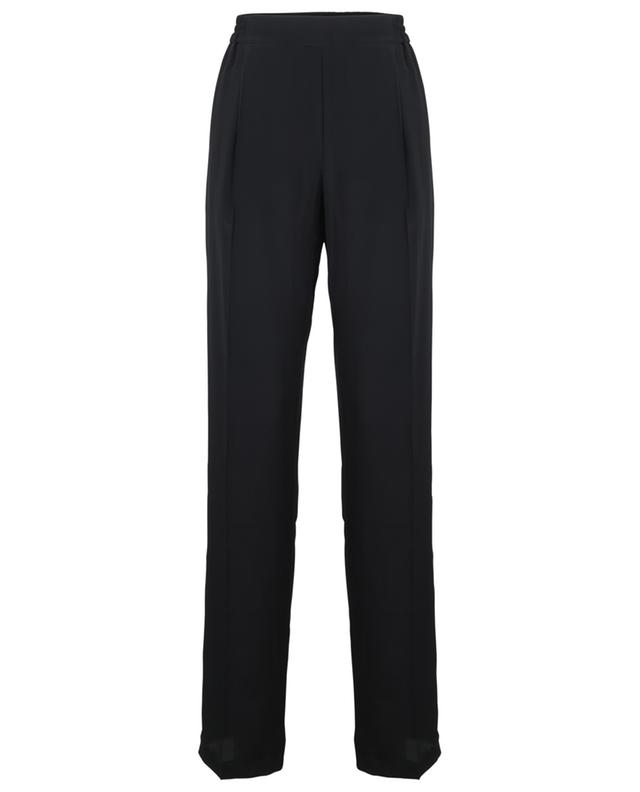 Pantalon large en crêpe à passepoil latéral N°21