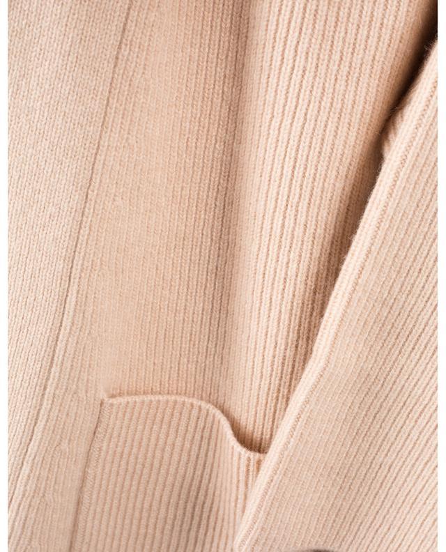 Cardigan boxy côtelé ouvert à manches kimono courtes HEMISPHERE