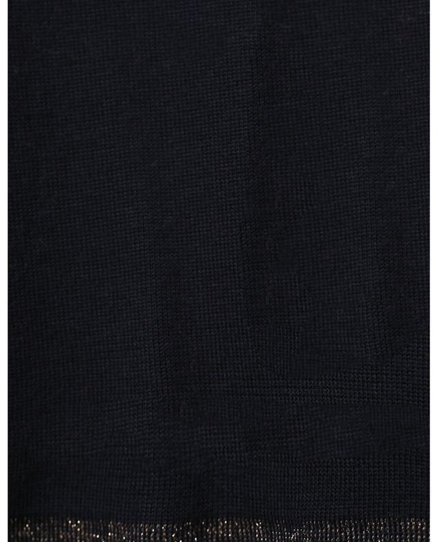 Pull trapèze fin embellie d'une bande en lurex HEMISPHERE