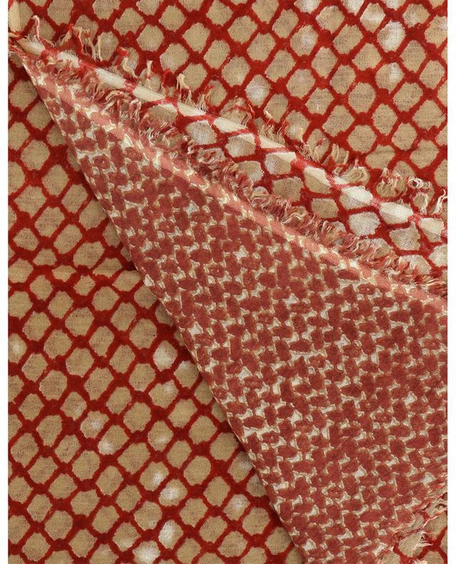 Écharpe en laine imprimée résille Sonam HEMISPHERE