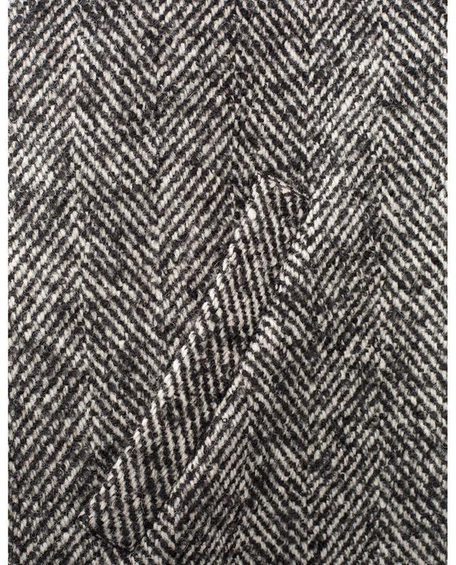 Veste rembourrée en laine mélangée motifs chevrons BARBARA BUI