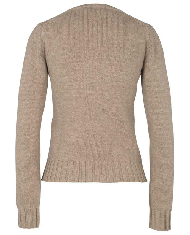 Pull épais ajusté à col V en alpaga et laine mérinos BARBARA BUI