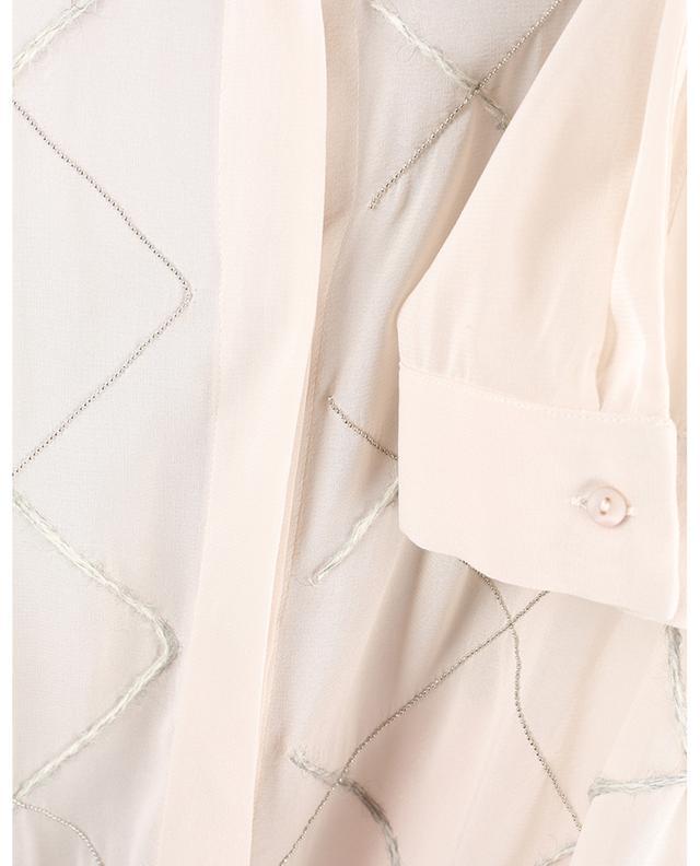 Weites Hemd aus Musselin mit Rautenstickereien FABIANA FILIPPI