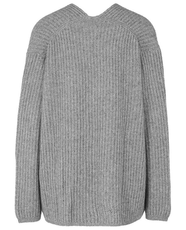 Pull col V en cachemire tricot ALLUDE