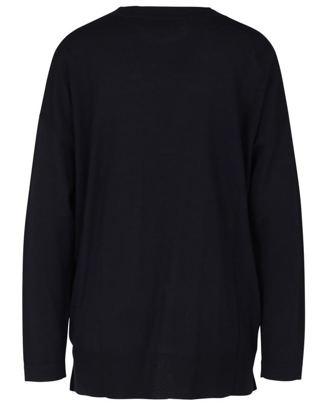 Pull fin col V en laine vierge ALLUDE