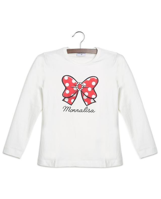 T-shirt à manches longues imprimé noeud à pois MONNALISA
