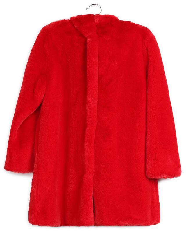 Manteau rouge en fausse fourrure avec capuche MONNALISA