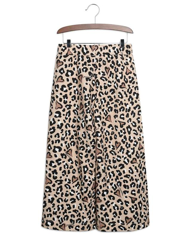 Pantalon large en jersey imprimé léopard MONNALISA