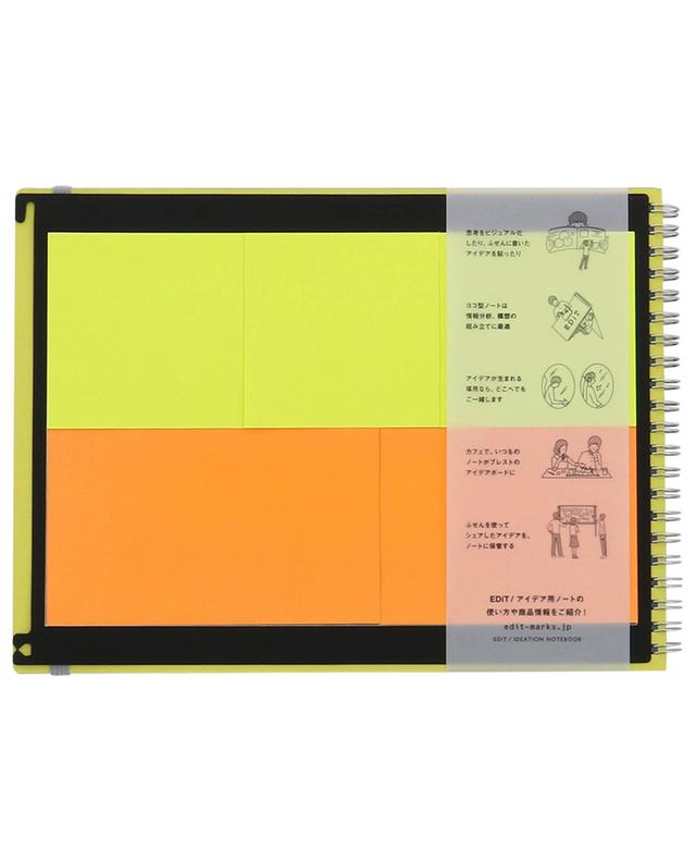 Carnet de notes avec reliure spirale et post-its MARK'S