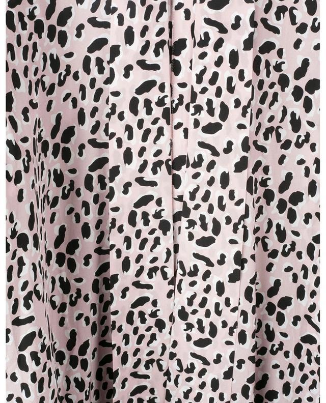 Blouse en soie imprimée léopard avec lavallière SLY 010