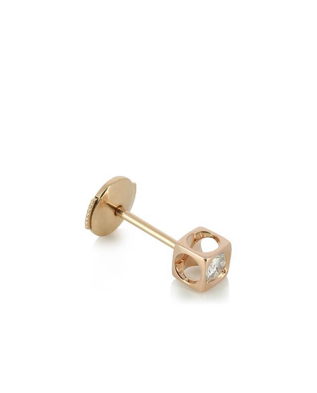 Boucles d'oreilles en or rose et diamant Le Cube DINH VAN