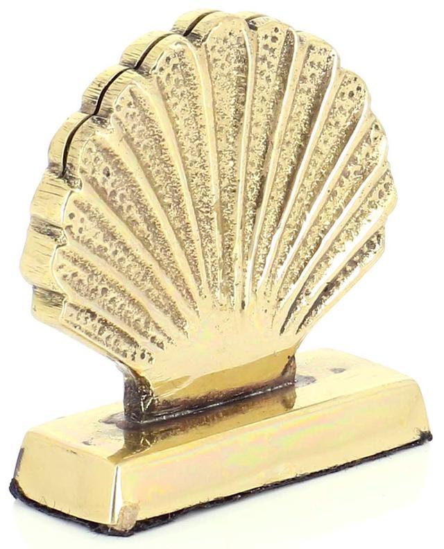 Shell brass place card holder A LA