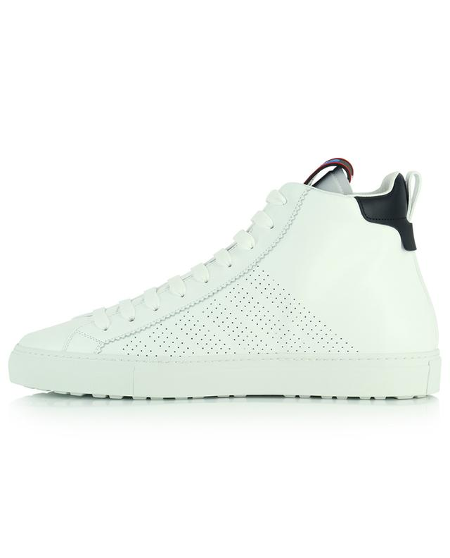San Diego high-top leather sneakers in perforates smooth leather DSQUARED2