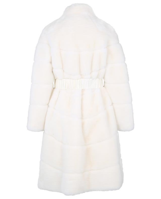 Manteau en fourrure syntéthique avec ceinture ERMANNO SCERVINO