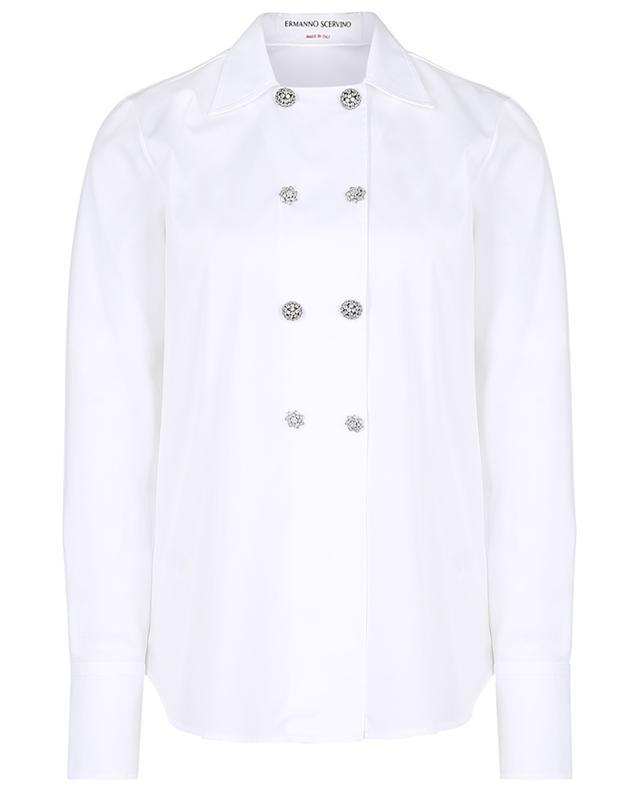 Langes doppelreihiges Hemd aus Popeline ERMANNO SCERVINO