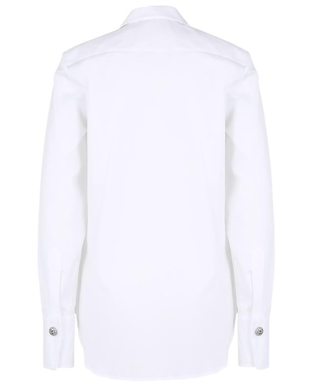 Long double-breasted poplin shirt ERMANNO SCERVINO