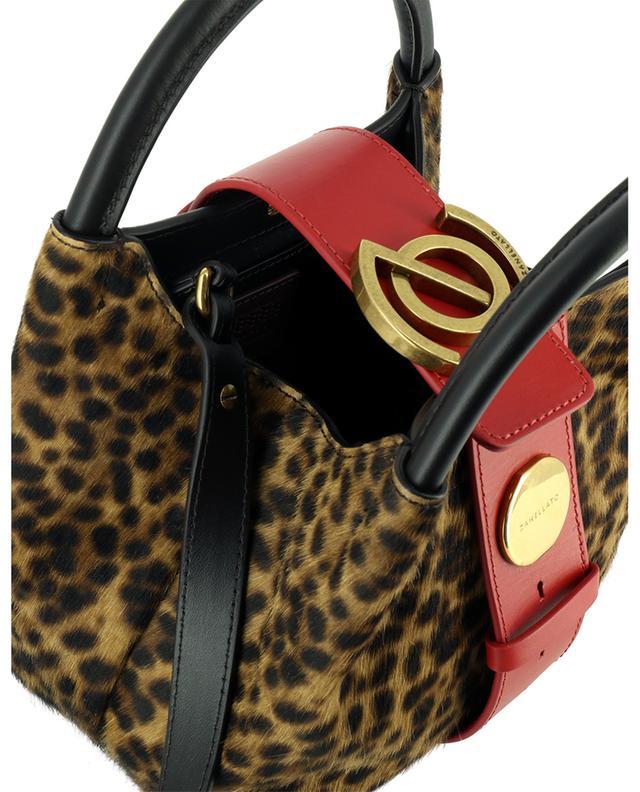 Petit sac à main en cuir poulain taches léopard Zoe Baby Linea Flirt Simba ZANELLATO