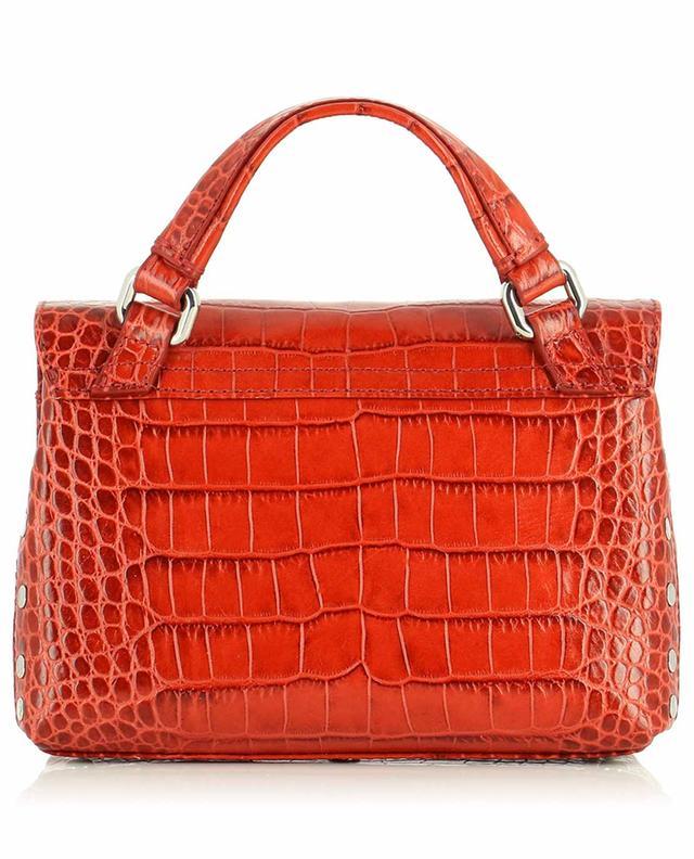 Petit sac à main en cuir effet crocodile Postina Baby Linea Ritratto Vignola ZANELLATO