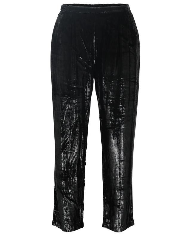 Pantalon droit en velours métallisé Glad MES DEMOISELLES