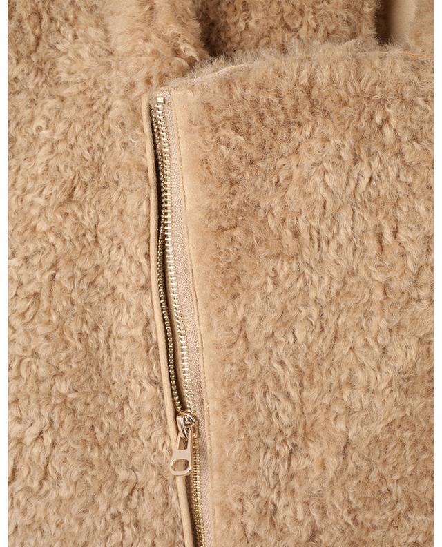 Gilet zippé en peau lainée synthétique Dolly MES DEMOISELLES