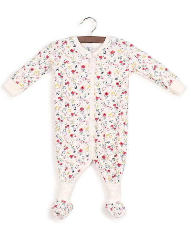 Schlafanzug aus geblümter Bouclé-Baumwolle mit Hausschuhen Lalida PETIT BATEAU