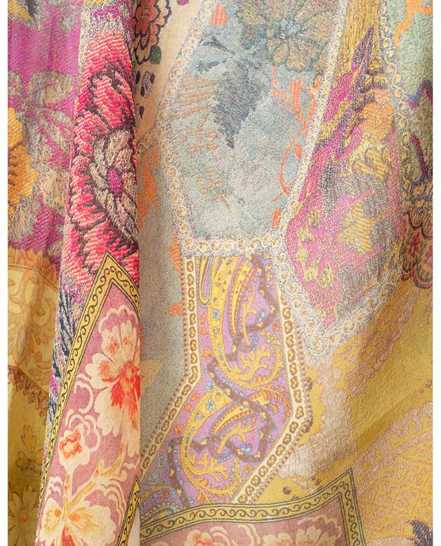 Poncho en voile de soie imprimé ETRO