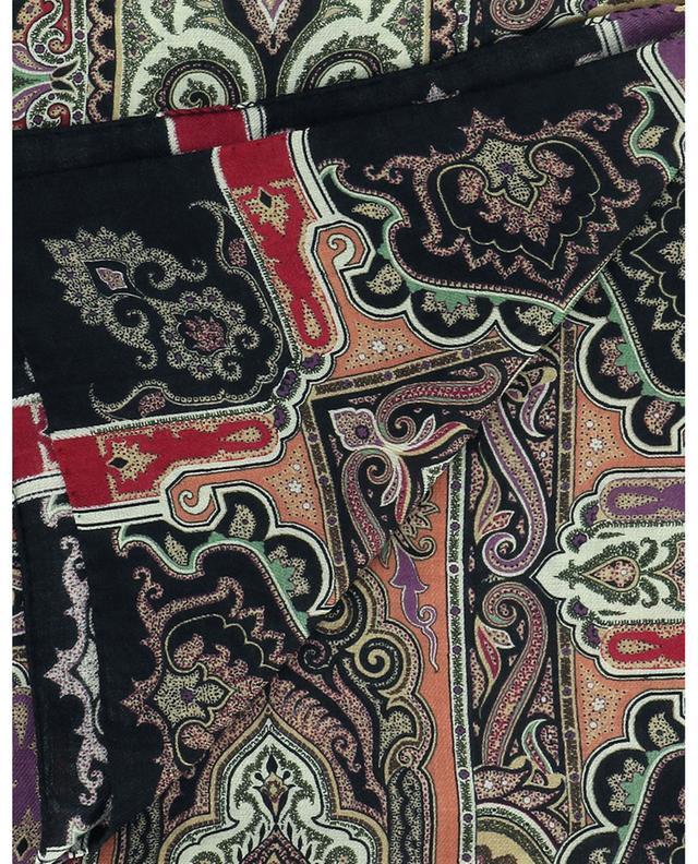 Foulard en laine et soie imprimées Bombay ETRO